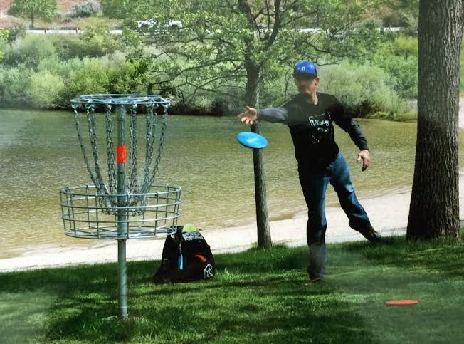 frisbee golf at lucky peak