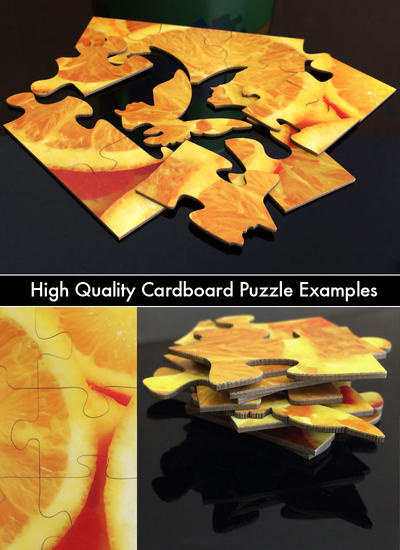 Example of cardboard puzzles