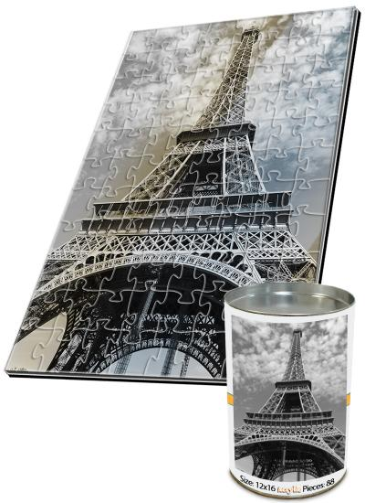 12x16 Jigsaw-Cut with 88 Pieces Custom Acrylic Puzzle