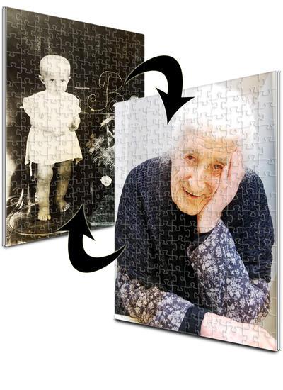 18x24 Jigsaw-Cut with 192 Pieces Custom 2-Sided Acrylic Puzzle