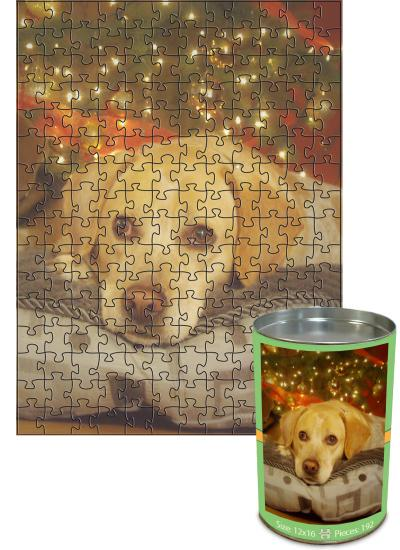 12x16 Jigsaw-Cut with 192 Pieces Custom Puzzle