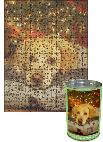 12x16 Jigsaw-Cut with 336 Pieces Custom Puzzle