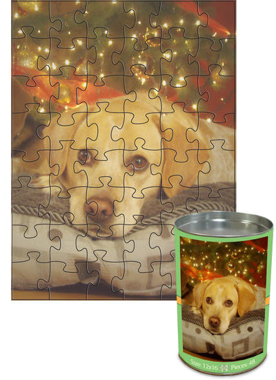 12x16 Jigsaw-Cut with 48 Pieces Custom Puzzle