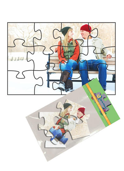 4x6 Jigsaw-Cut with 12 Pieces Custom Puzzle