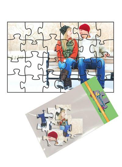 4x6 Jigsaw-Cut with 24 Pieces Custom Puzzle