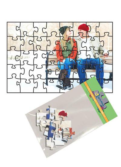 4x6 Jigsaw-Cut with 40 Pieces Custom Puzzle