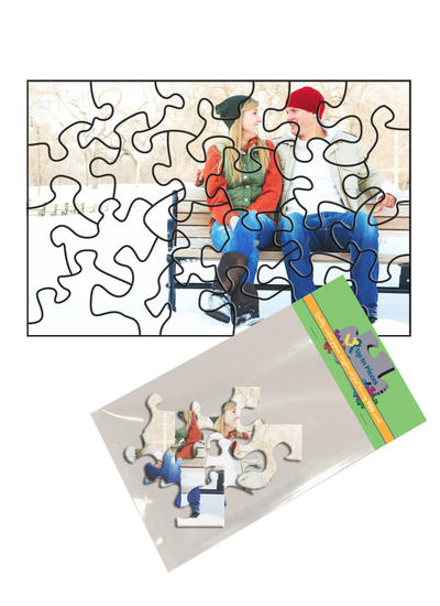 4x6 Stone-Cut with 24 Pieces Custom Puzzle