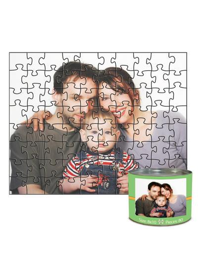 8x10 Jigsaw-Cut with 80 Pieces Custom Puzzle