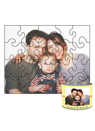 8x10 Swirl-Cut with 20 Pieces Custom Puzzle