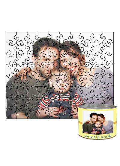 8x10 Swirl-Cut with 80 Pieces Custom Puzzle