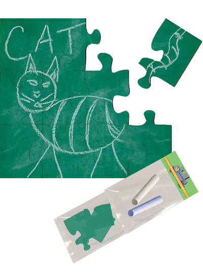 Green Chalkboard Puzzle