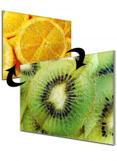 8x10 Swirl-Cut with 20 Pieces Custom 2-Sided Acrylic Puzzle