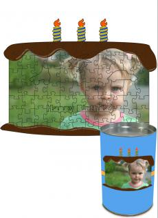 12x16 Birthday Cut Predesigned Puzzle