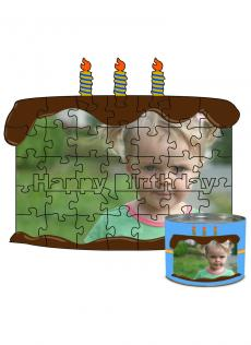8x10 Birthday Cut Predesigned Puzzle