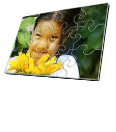 4x6 Swirl-Cut with 12 Pieces Custom Acrylic Puzzle