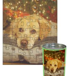 12x16 Jigsaw-Cut with 48 Pieces Custom Puzzle
