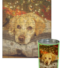 12x16 Jigsaw-Cut with 88 Pieces Custom Puzzle