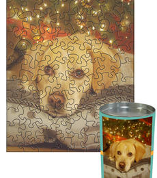 12x16 Stone-Cut with 88 Pieces Custom Puzzle