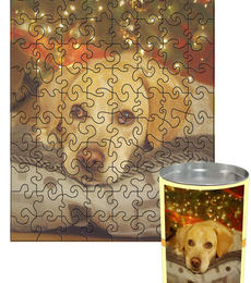 12x16 Swirl-Cut with 88 Pieces Custom Puzzle