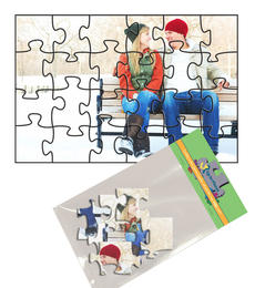 4x6 Jigsaw-Cut with 24 Pieces Custom Puzzle