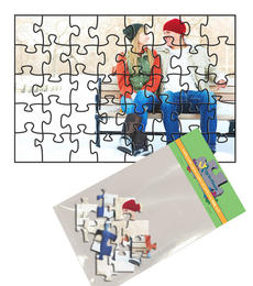 4x6 Jigsaw-Cut with 40 Pieces Custom Puzzle