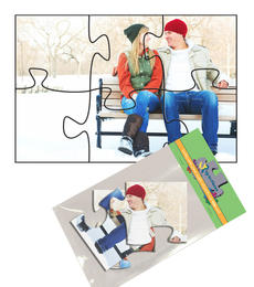 4x6 Jigsaw-Cut with 6 Pieces Custom Puzzle