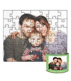 8x10 Jigsaw-Cut with 42 Pieces Custom Puzzle
