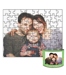 8x10 Jigsaw-Cut with 80 Pieces Custom Puzzle