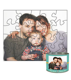 8x10 Stone-Cut with 20 Pieces Custom Puzzle