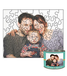 8x10 Stone-Cut with 42 Pieces Custom Puzzle