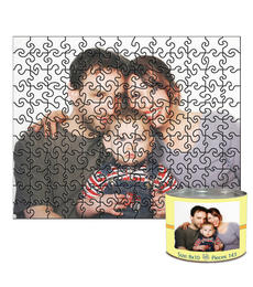 8x10 Swirl-Cut with 143 Pieces Custom Puzzle