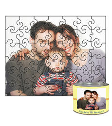 8x10 Swirl-Cut with 42 Pieces Custom Puzzle